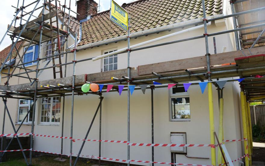 Durring installation front of house semi detached property 10